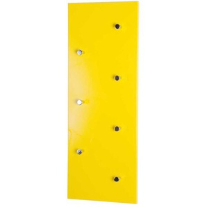 Wandgarderobe in Gelb mit Haken