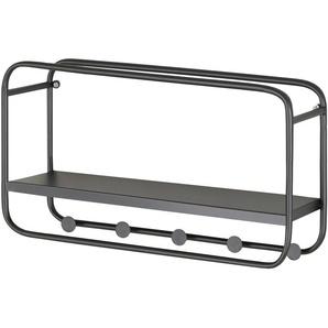Wandgarderobe - schwarz - 45 cm - 25 cm - 15 cm | Möbel Kraft