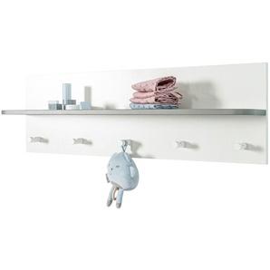 Wandgarderobe - weiß - 90 cm - 28,5 cm - 16,5 cm | Möbel Kraft