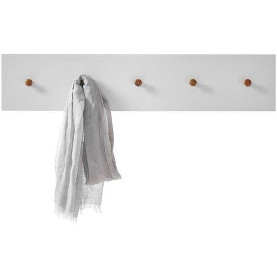 Wandgarderobenleiste in Weiß und Asteiche Skandi Design