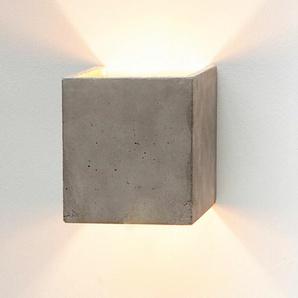 Wandleuchte B3 GANTlights grau, Designer Stefan Gant, 14x14x14 cm