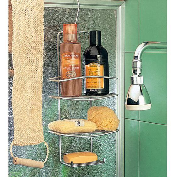 Wandmontierter Duschkorb