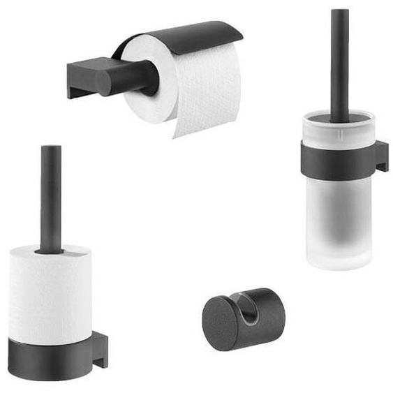 Wandmontiertes Toilettenbürsten-Set