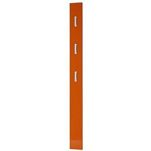 Wandpaneel Garderobe in Orange Hochglanz Klapphaken