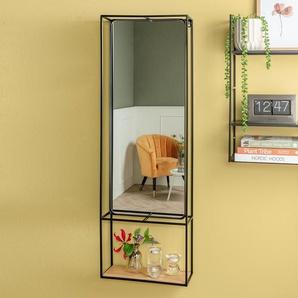 Wandregal mit Spiegel »Glance« - schwarz -