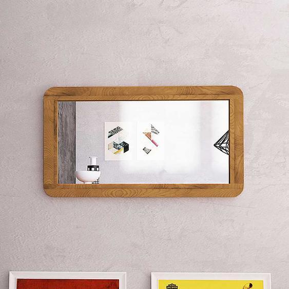 Wandspiegel aus Wildeiche Massivholz und Spiegelglas 60 cm hoch