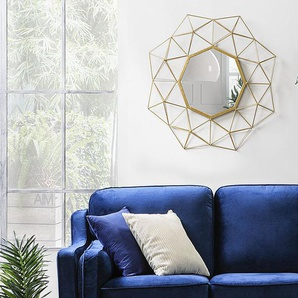 Wandspiegel gold geometrische Form 69 x 80 cm GAILLAC