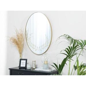 Wandspiegel gold oval 59 x 83 cm ALOR