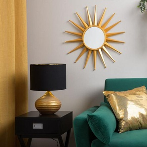 Wandspiegel gold Sonnenoptik ø60 cm PERELLI