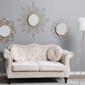 Wandspiegel gold Sternenoptik ø 60 cm HILLION