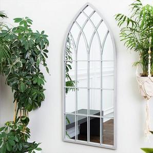 Wandspiegel grau Fensteroptik 50 x 115 cm CASSEL