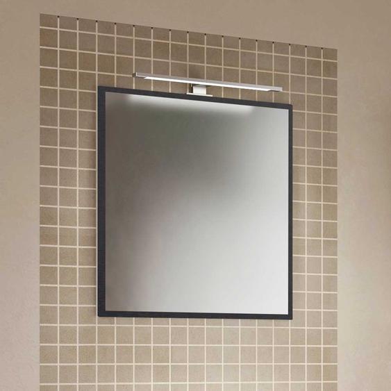 Wandspiegel in Eiche Grau Optik 60 cm breit
