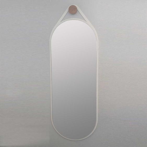 Wandspiegel in Weiß Metall oval