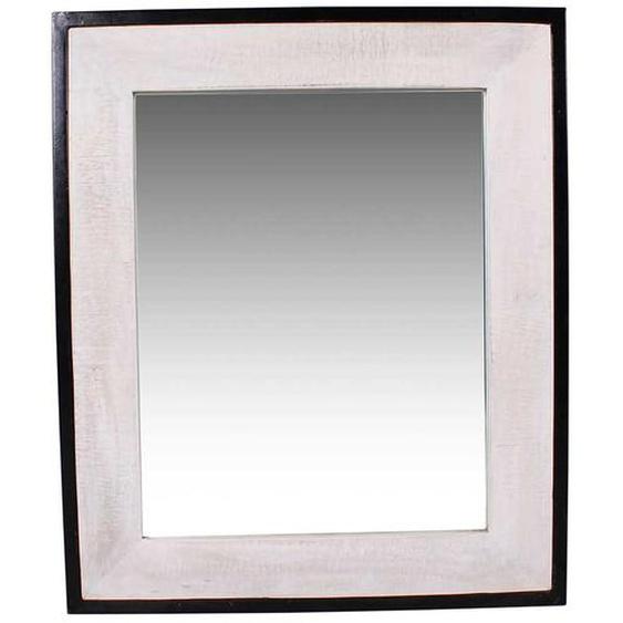 Wandspiegel in Weiß und Schwarz Industry Stil