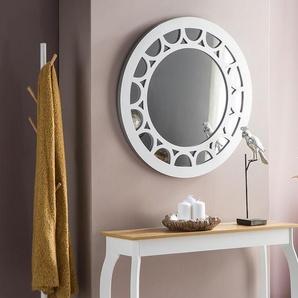 Wandspiegel rund silber ø80 cm LOLIF