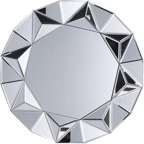 Wandspiegel silber Diamantform ø70 cm HABAY