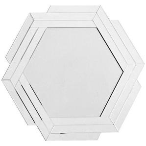 Wandspiegel , Silber , Metall, Glas , 80x85x1.6 cm , Wohnspiegel, Wandspiegel