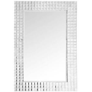 Wandspiegel , Silber , Metall, Glas , rechteckig , 60x90x4 cm , Schlafzimmer, Spiegel, Wandspiegel