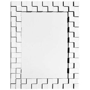 Wandspiegel , Silber , Metall, Glas , rechteckig , 65x85x2.8 cm , Wohnspiegel, Wandspiegel