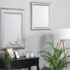Wandspiegel silber quadratisch 65 x 65 cm CAVAN