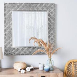Wandspiegel silber quadratisch 80 x 80 cm EVETTES