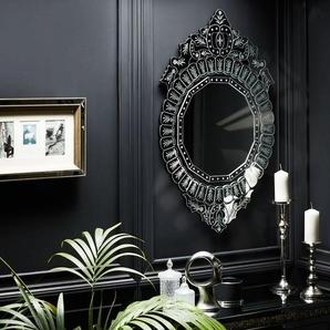 Wandspiegel silber rund 67 x 100 cm CRAON