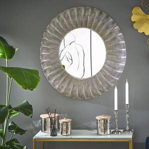 Wandspiegel silber rund ø 77 cm GODHRA