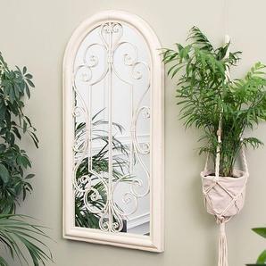 Wandspiegel weiß Fensteroptik 50 x 98 cm CAMPEL