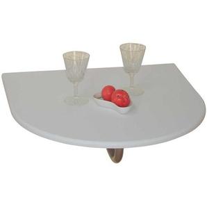 Wandtisch in Weiß abklappbar