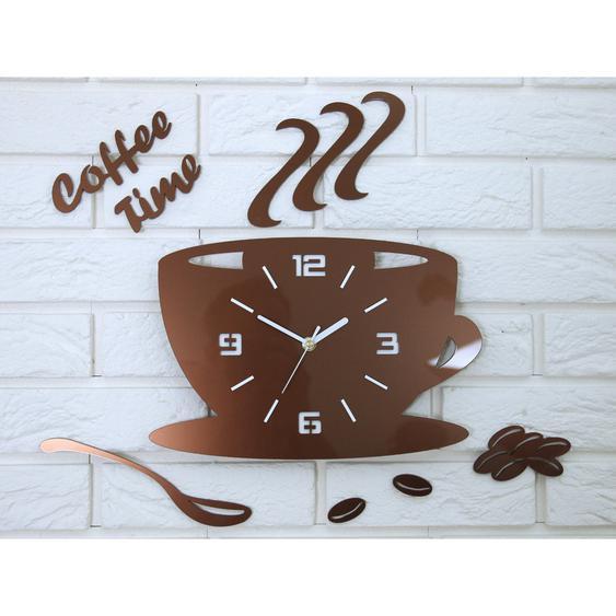 Wanduhr Coffee Time 3D