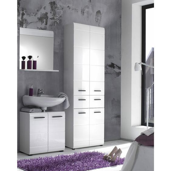 Wari Badezimmerset Weiß   Weiß Hochglanz