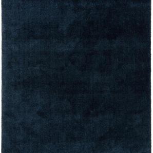 Waschbarer Hochflorteppich Lahty Dunkelblau 120x170 cm