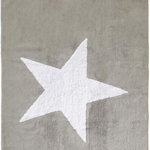 Waschbarer Kinderteppich Bambini Star Grau 120x160 cm