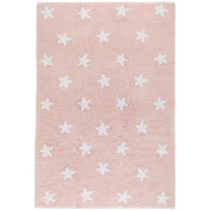 Waschbarer Kinderteppich Bambini Stars Rosa 120x180 cm