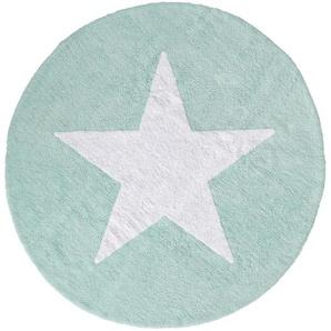 Waschbarer Kinderteppich Bambini Türkis ø 150 cm rund