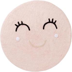 Waschbarer Kinderteppich Inka Rosa ø 150 cm rund