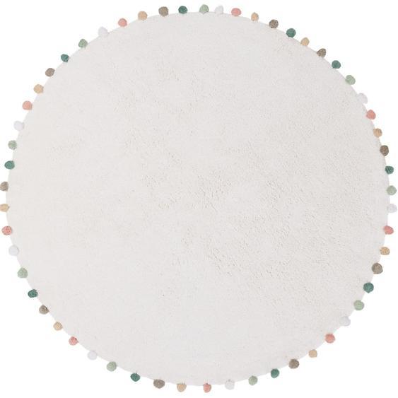 Waschbarer Kinderteppich Tilda Cream ø 80 cm rund