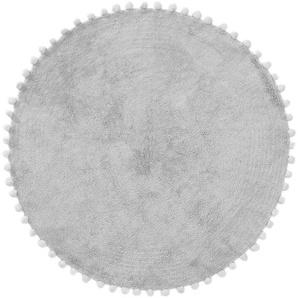 Waschbarer Kinderteppich Tilda Grau ø 80 cm rund