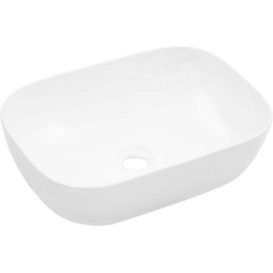 Waschbecken 45,5 x 32 x 13 cm Keramik Weiß