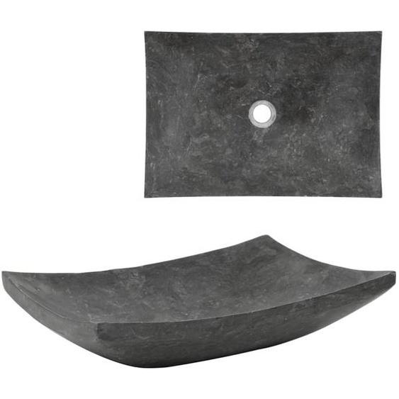 Waschbecken 50×35×12 cm Marmor Schwarz