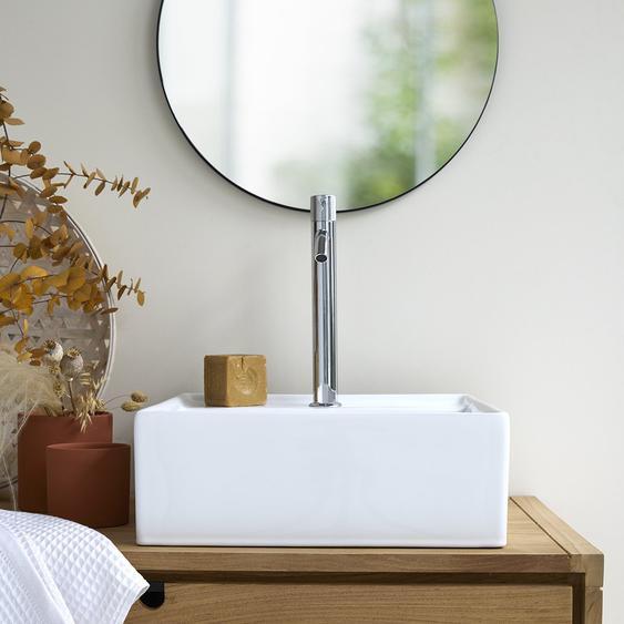 Waschbecken Aufsatzwaschbecken aus keramik mit Überlauf