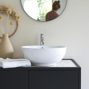 Waschbecken aus keramik Aufsatzwaschbecken Badezimmer rund Becken weiß