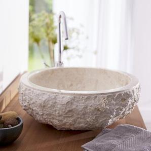 Waschbecken aus Marmor Scrula cream