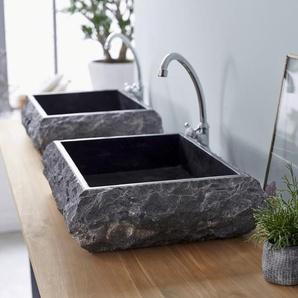Waschbecken aus Marmor Scrula Slim black