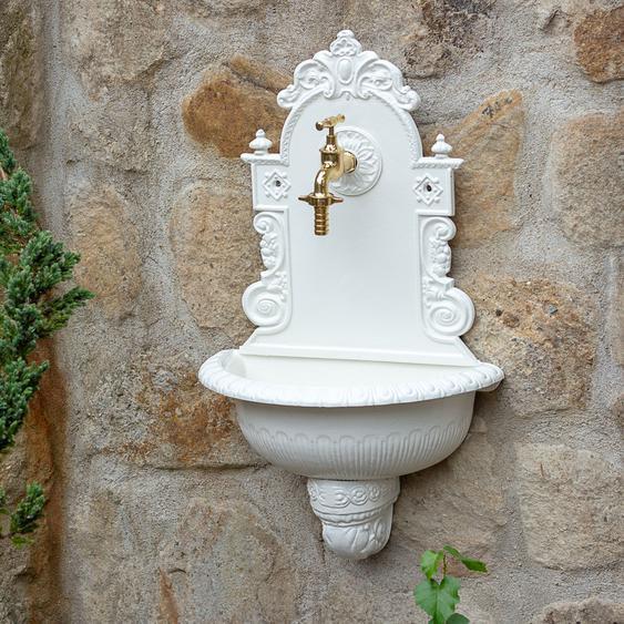 """Waschbecken mit Gartenschlauchanschluss Gartenbrunnen Wandbrunnen Wasserhahn ¾"""""""