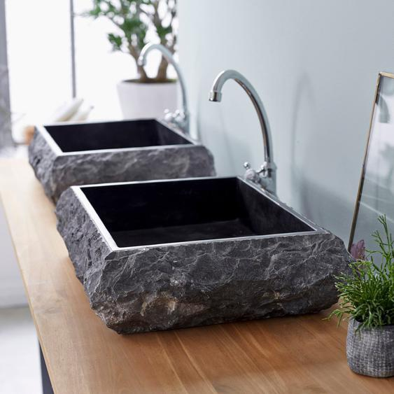 Waschbecken Waschschale Marmor Marmorbecken rechteckig Naturstein Bad
