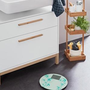 Waschbeckenunterschrank mit 2 Schubladen - braun - Holz -