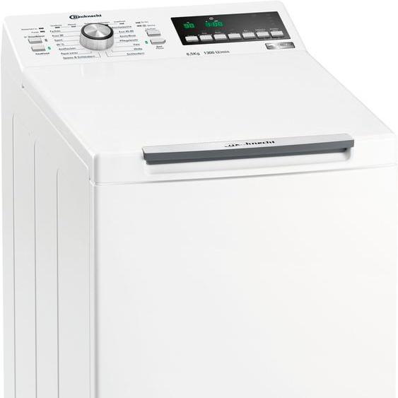Waschmaschine Toplader WAT 6513 DD N, 6,5 kg, 1300 U/min, 4 Jahre Herstellergarantie, Energieeffizienz: D, 40x90x60 cm (BxHxT), Energieeffizienzklasse D, BAUKNECHT, Material Wolle, Baumwolle, Synthetik