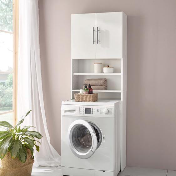 Waschmaschinenumbauschrank B/H/T: 63,8 cm x 182 23,1 cm, 2 weiß Waschmaschinen SOFORT LIEFERBARE Haushaltsgeräte