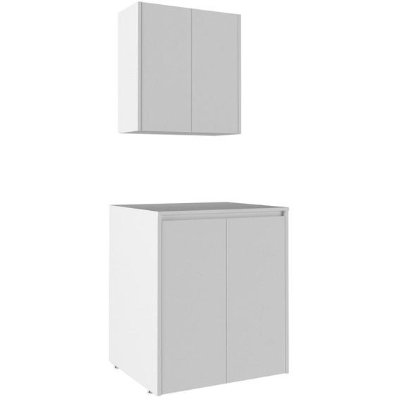 Waschmaschinenumbauschrank Sedir, Breite 70 cm, Badmöbel, weiß, Soft-Close B/H/T: cm x 89 69 4 weiß Waschmaschinen SOFORT LIEFERBARE Haushaltsgeräte